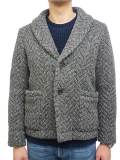 Seagreen Shawl collar knit jacket charcoal