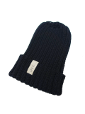 LIFE IS.... WOOL KNIT CAP BLACK