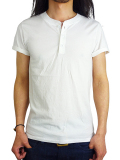 T.S.G from SeaGreen HENLEY NECK S/S WHITE