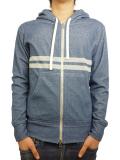 Seagreen pile hoodie blue