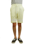 Seagreen pile  shorts yellow