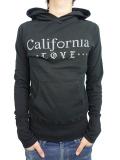 MARBLES CALIFORNIA LOVE GAUZE MINI HOODED PARKA BLACK
