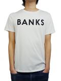 BANKS CLASSIC TEE SHIRT OFF WHITE