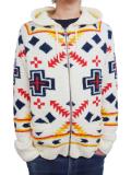 Birvin Uniform SUMMER MOKOMOKO Zip up Hoodie WHITE