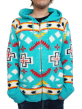 Birvin Uniform SUMMER MOKOMOKO Zip up Hoodie Sea green
