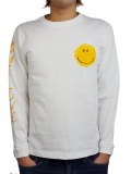 JOHN'S SURF HAND PAINTED L/S TEE WHITE