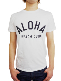 ALOHA BEACH CLUB S/S TEE CREW WHITE