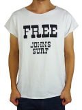 """JOHN'S SURF  ALLCUT S/S TEE """"FREE"""" WHITE"""