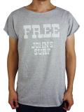 """JOHN'S SURF  ALLCUT S/S TEE """"FREE"""" GRAY"""