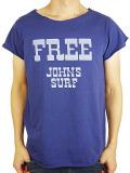 "JOHN'S SURF  ALLCUT S/S TEE ""FREE"" NAVY"