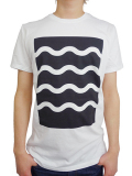 ALOHA BEACH CLUB S/S TEE WAVEY WHITE