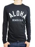 ALOHA BEACH CLUB L/S TEE CREW BLACK