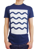 ALOHA BEACH CLUB S/S TEE WAVEY NAVY