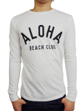 ALOHA BEACH CLUB L/S TEE CREW WHITE