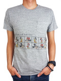 JACKSON MATISSE Mickey Mouse Pocket Tee Gray