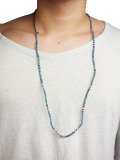 Birvin Uniform Indigo Shell Beads Necklace 2