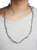 Birvin Uniform Indigo Shell Beads Necklace
