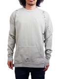 PRAISE. ROYALTY CREW SWEAT LITE GREY