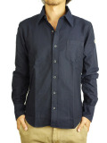 TMT L/SL COLOR OX SHIRT BLACK