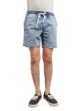 AFENDS Pint Denm Shorts BLUE ACID