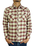 TMT L/SL STANDARD CHECK SHIRT BROWN