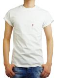 HIDE AND SEEK Sleeve Logo Pocket  S/S TEE WHITE