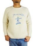 JACKSON MATISSE × MARK GONZALES THRASHER Pullover Knit WHITE