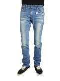TMT DENIM STRETCH SLIM TYPE606 INDIGO LIGHT
