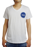 "JOHN'S SURF  V-NECK S/S TEE ""CIRCLE"" WHITE"