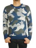 M star camo knit pullover gray
