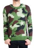 M star camo knit pullover khaki