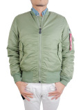 ALPHA MA-1 TIGHT JACKET NYLON TWILL VINTAGE.GREEN