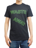 BEACH ASS PUNK BLOCK WASTE AWAY TEE BLACK
