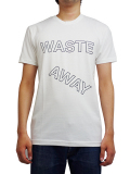 BEACH ASS PUNK BLOCK WASTE AWAY TEE WHITE