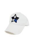 StarLean★ 5パーツ刺繍メッシュキャップ(BLUE) WHITE