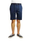 "SURREAL ""BERNIE"" Peach skin easy shorts NAVY"