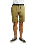"SURREAL ""BERNIE"" Peach skin easy shorts BEIGE"