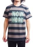 "SURREAL ""TOM"" Print Border T-Shirt BROWN/BLACK"