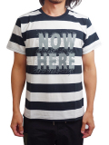 "SURREAL ""TOM"" Print Border T-Shirt WHITE/BLACK"