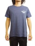 "SURREAL ""DEREK"" Pigment Dye Print T-Shirt NAVY"