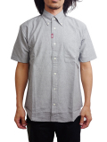 "SURREAL ""CHIAKI"" Oxford Buttondown Shirt GRAY"