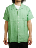 "SURREAL ""LANCE"" Linen Open Collar Shirt MINT"