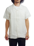 "SURREAL ""LANCE"" Linen Open Collar Shirt WHITE"