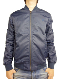 THE QUIET LIFE Middle Of Nowhere Satin Jacket Navy/Silver