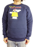 JACKSON MATISSE SNOOPY W-Face Crew Neck Sweat NAVY