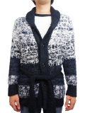 Birvin Uniform Chenille Shawl Collar Long Knit BLACK