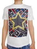 StarLean★ スターグラフィックプリントTシャツ WHITE