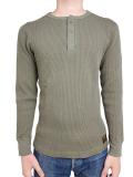 ALPHA Heavy Waffle Henley Neck L/S A.Green