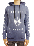 "AFENDS ""Threaded"" Pullover Hoodie  Indigo Acid"