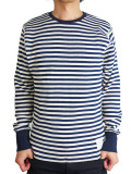 M l/s thermal border t-shirts navy